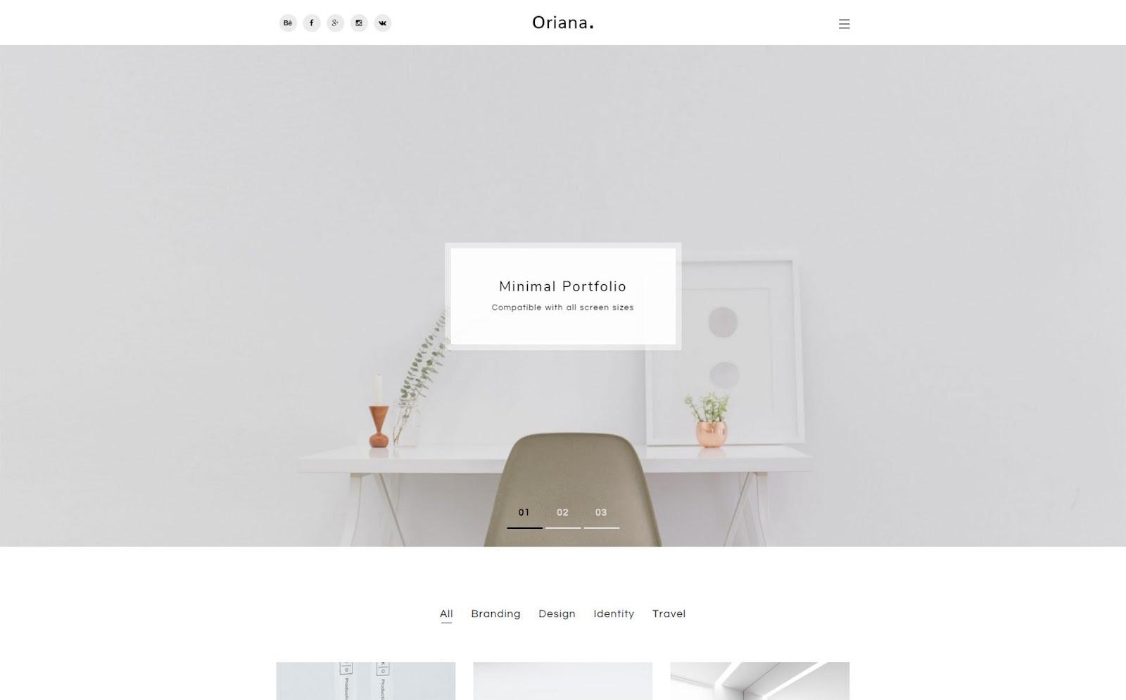 WordPress themes - Oriana loading speed