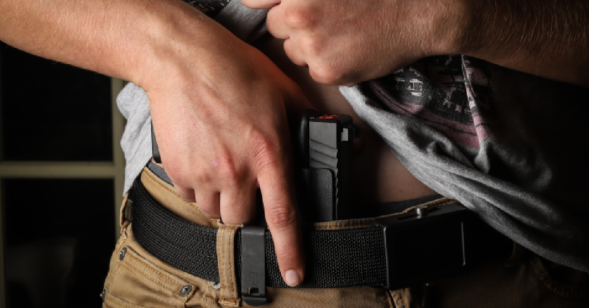 concealed firearm under t shirt
