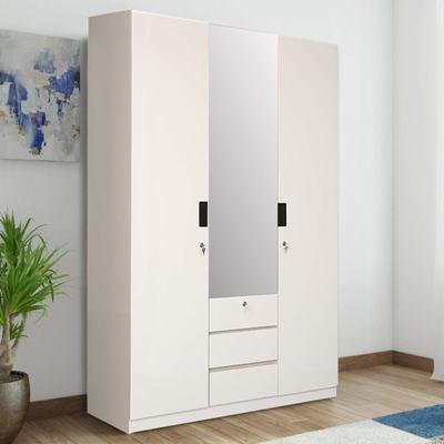 HomeTown Edwina Engineered Wood Three Door Wardrobe