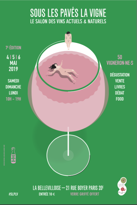 Laurence Chéné réalise des affiches pour des festivals de vin nature