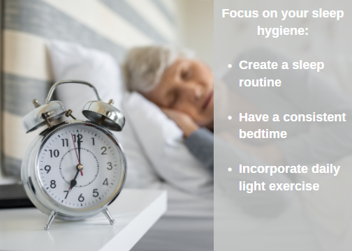 focus on sleep hygiene