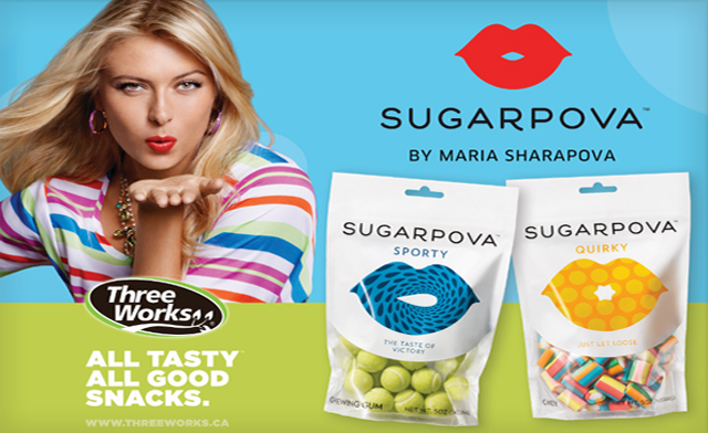 Sharapova's Superpova candy brand