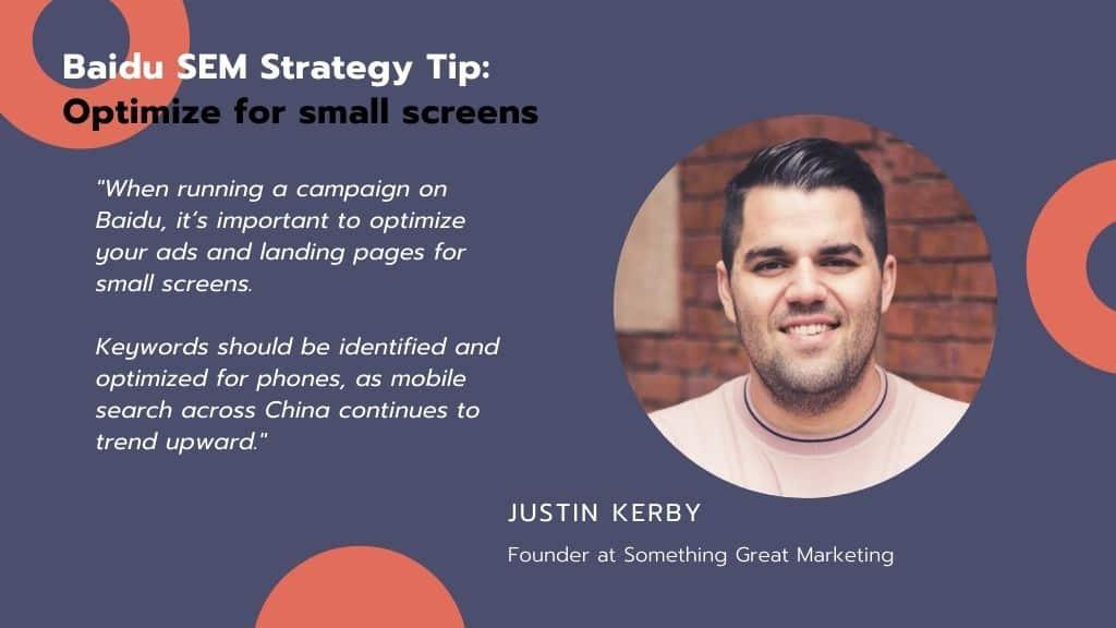 Baidu SEM strategy tip : Optimize for small screens