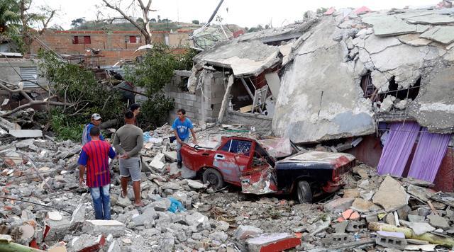 龍捲風嚴重損毀民宅。 路透