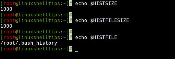 Проверить размер истории в Linux