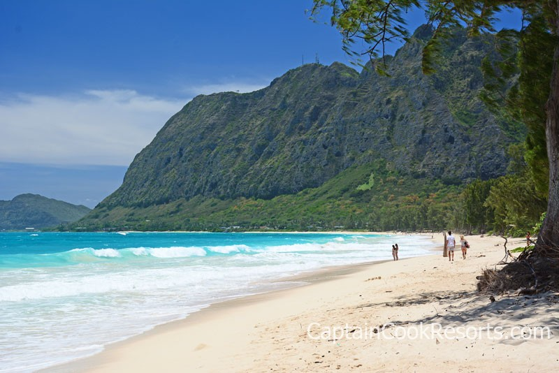 Beautiful Waimanalo Beach on Oahu