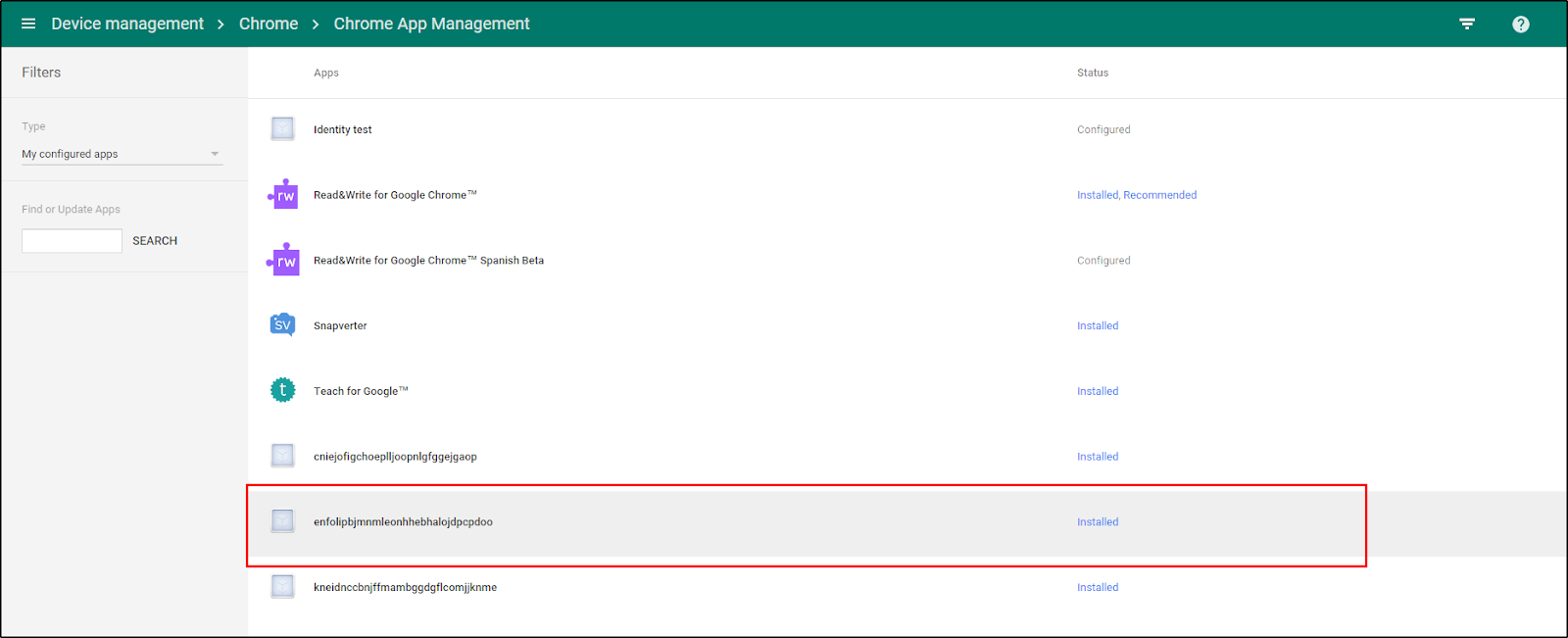 Google Admin Console Extension Listing