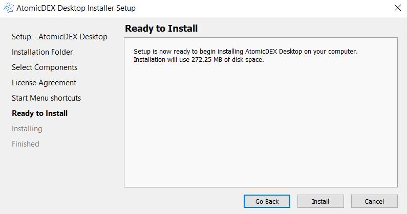 Install AtomicDEX 6