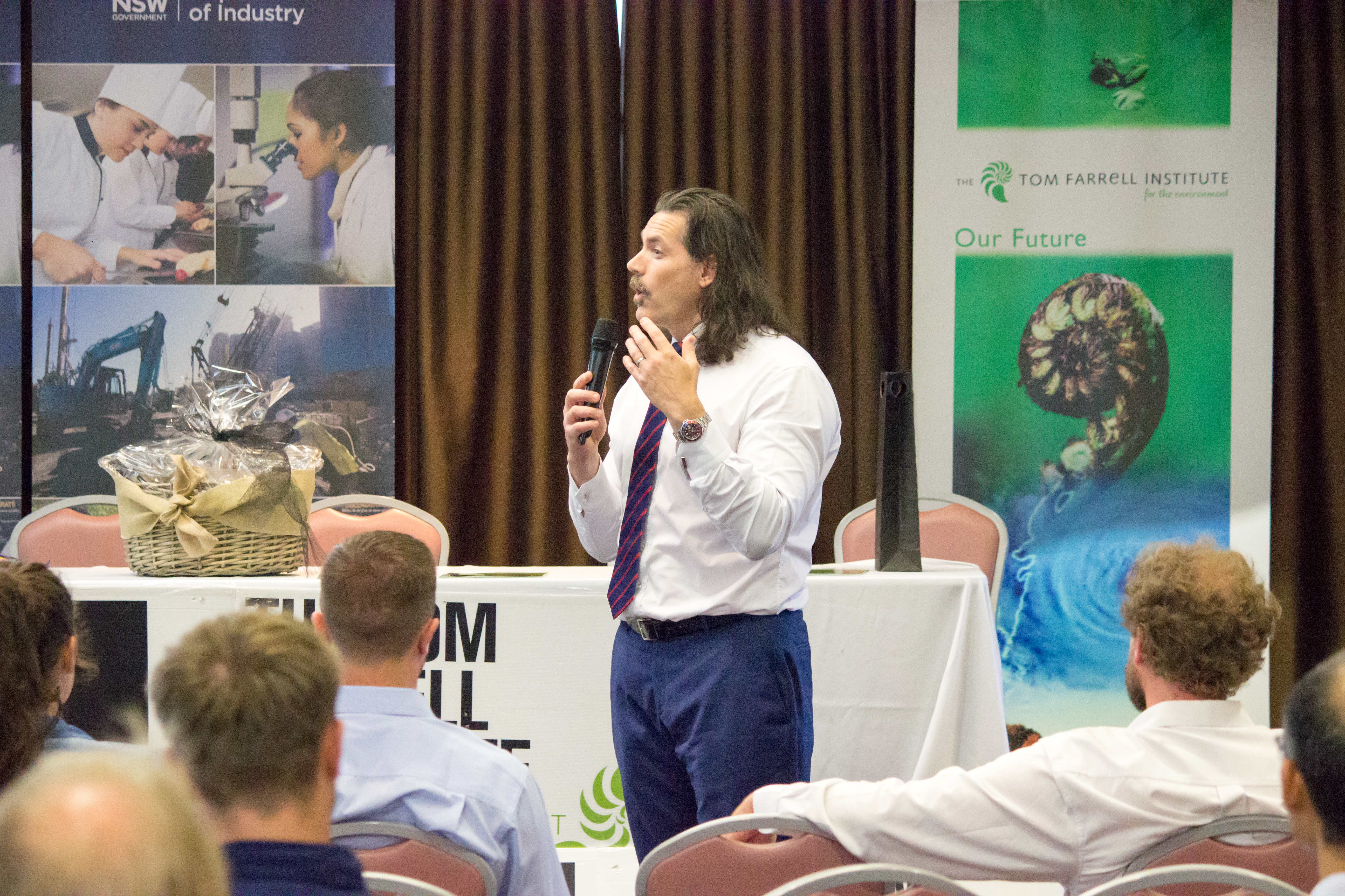 Dept of Industry - Division of Resources & Energy - Environmental Sustainability Unit was the Conference Partner in 2017. Dr David Blackmore pictured.