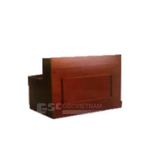 Quầy lễ tân làm từ bàn gỗ tự nhiên BQ01PU