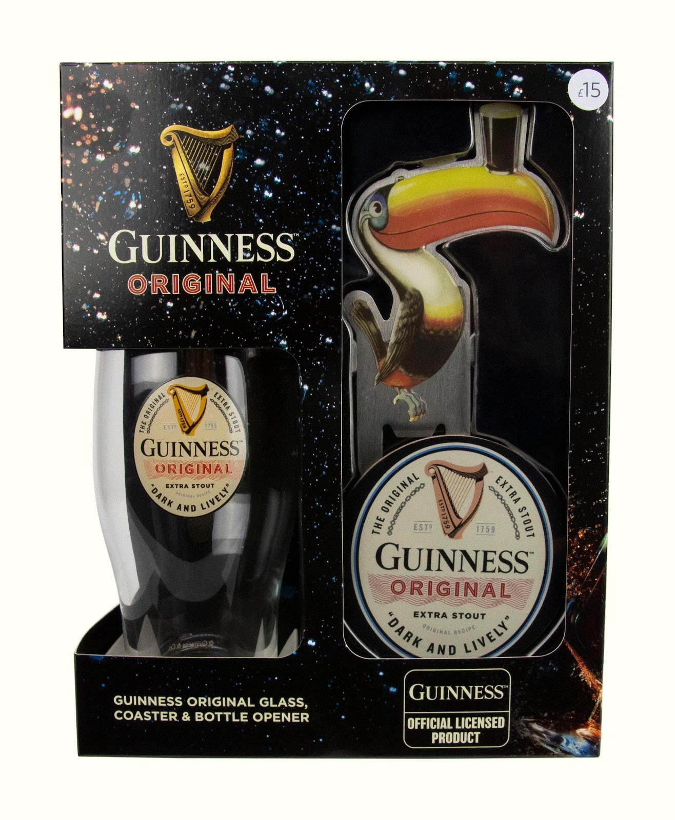 Guinness drink essentials fathers day gift beer glass