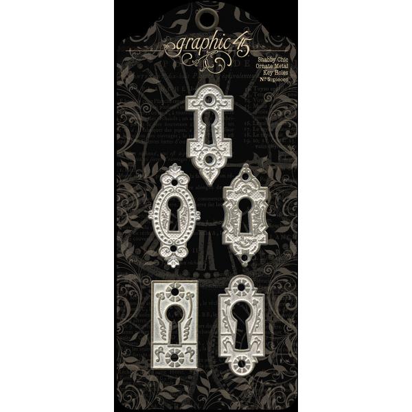 Staples - Shabby Chic Ornate Metal Key Holes