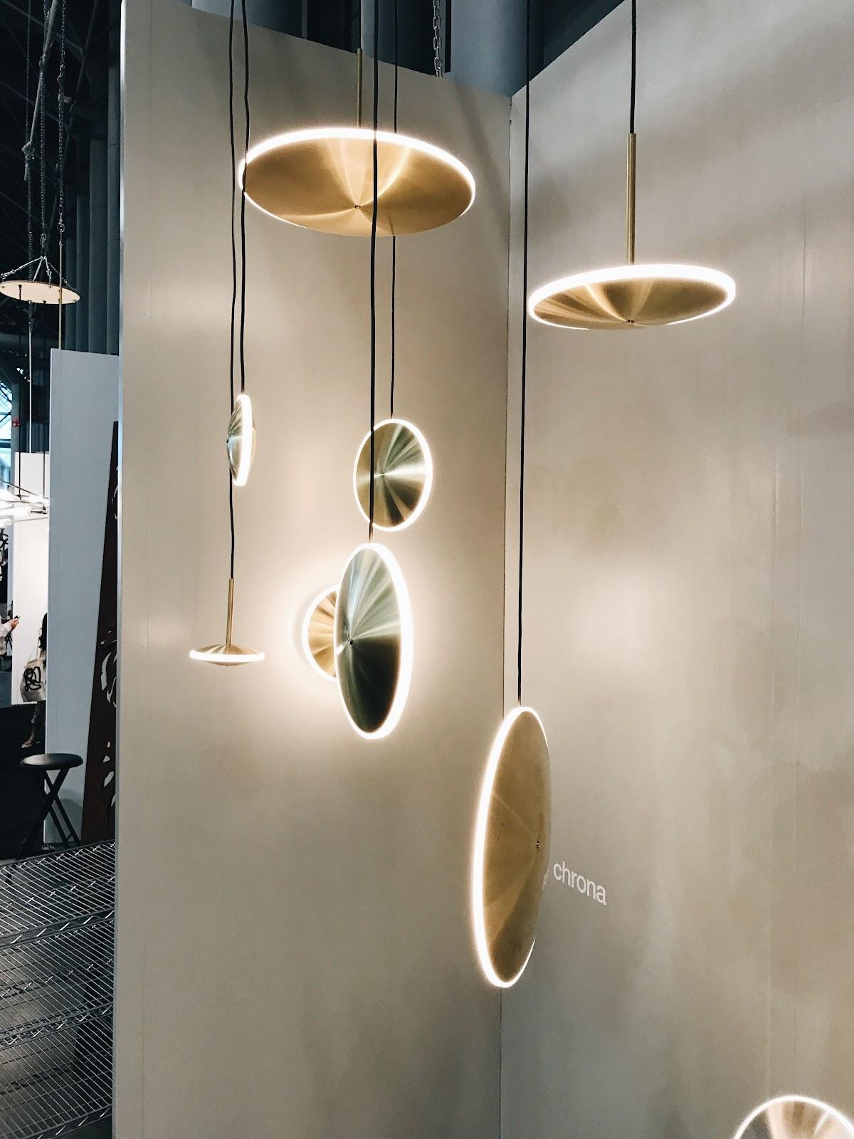 ICFF international contemporary design furniture fair disk pendants