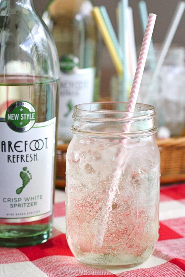 A Simple Summer Barbecue Menu featuring Barefoot Refresh