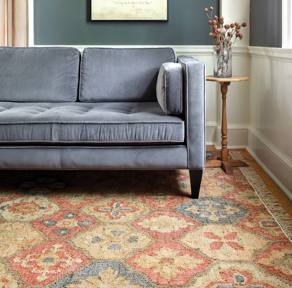 Jute colorful patterned rug