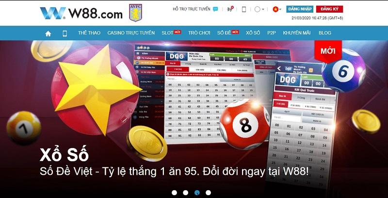 Hướng dẫn cách chơi xổ số online cùng W88