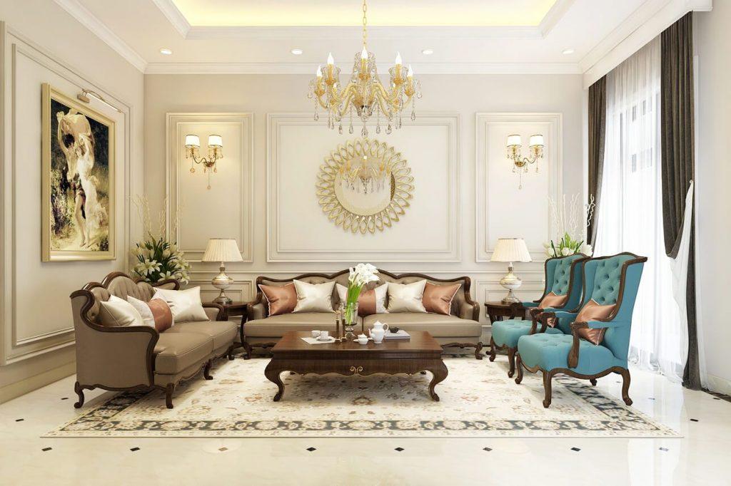 Thiết kế nội thất chung cư Châu Âu phong cách cổ điển