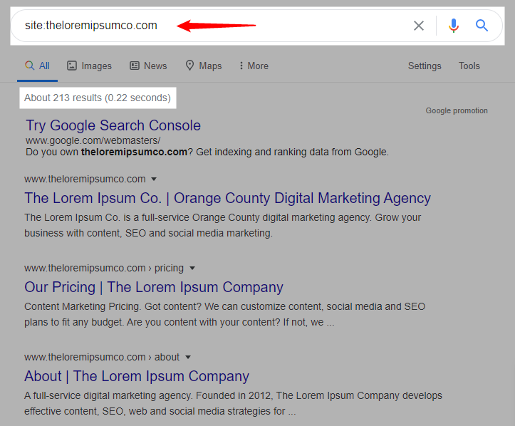 is your site indexed?