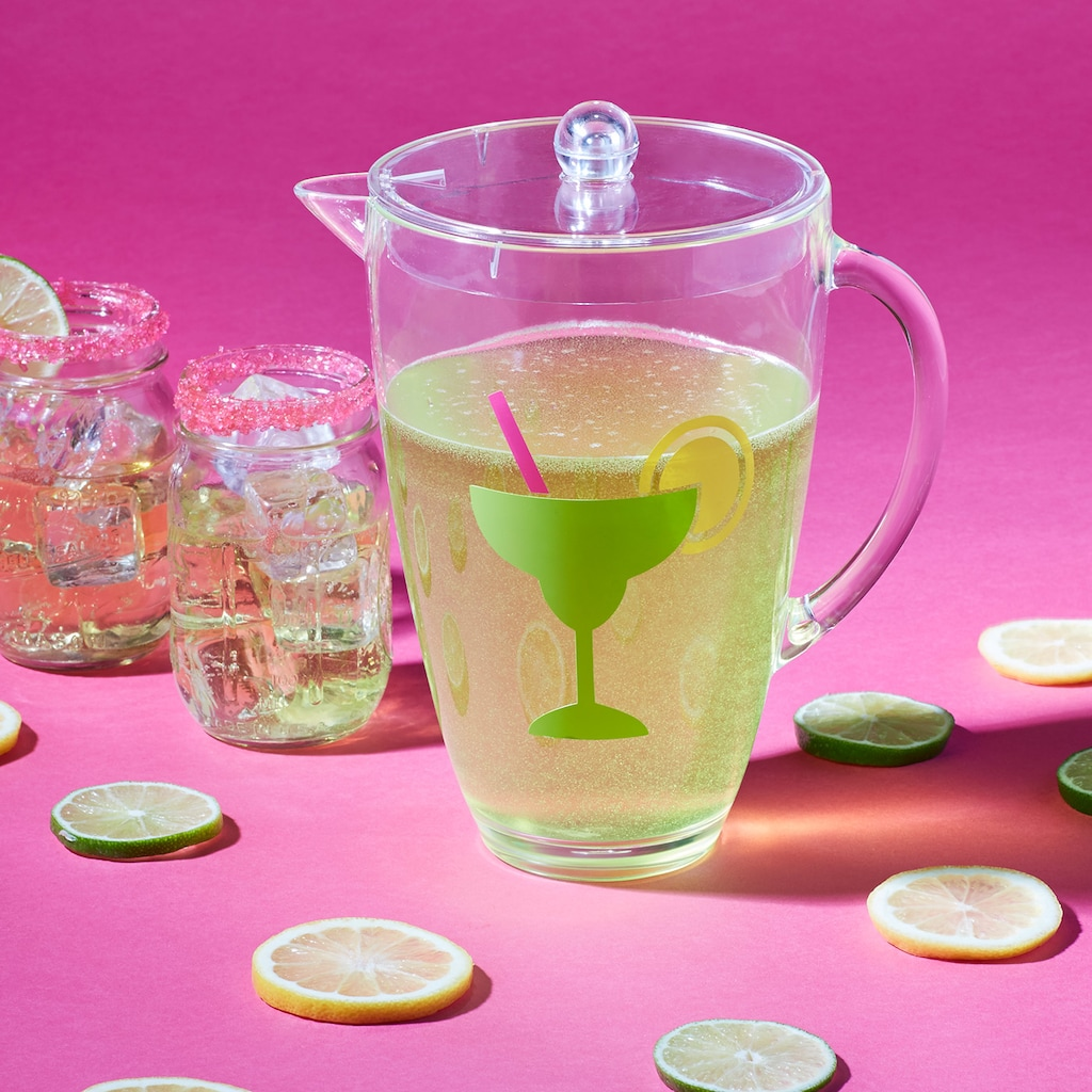margarita pitcher with vinyl design