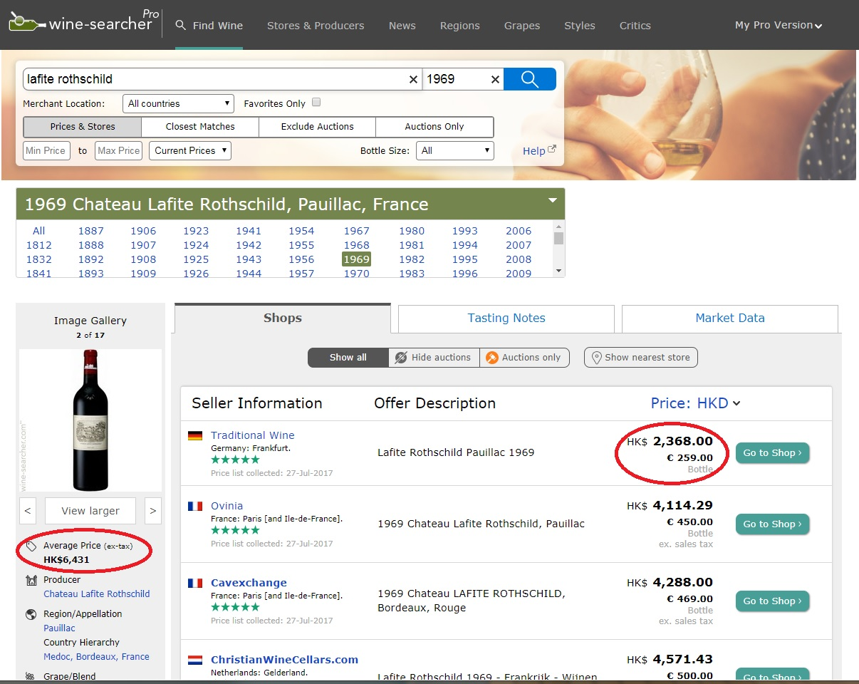 Wine Searcher Price Average Market Price difference with First available price - Fake wine .jpg