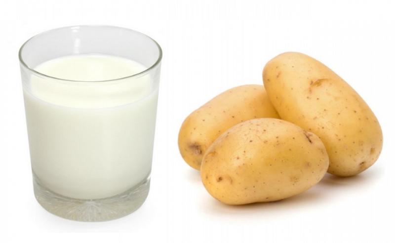 Cách làm trắng da toàn thân với sữa không đường và khoai tây