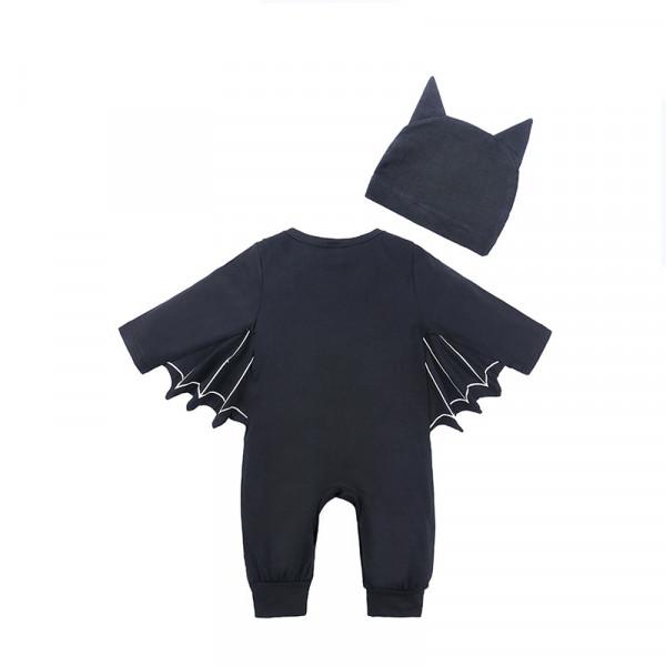 Baby Boy Little Bat Jumpsuit with Funny Hat