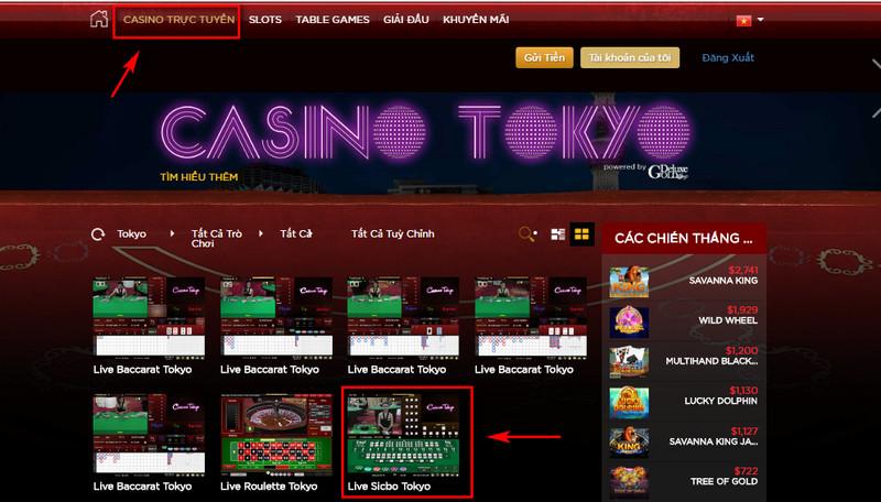 Giao diện Live Casino House đơn giản