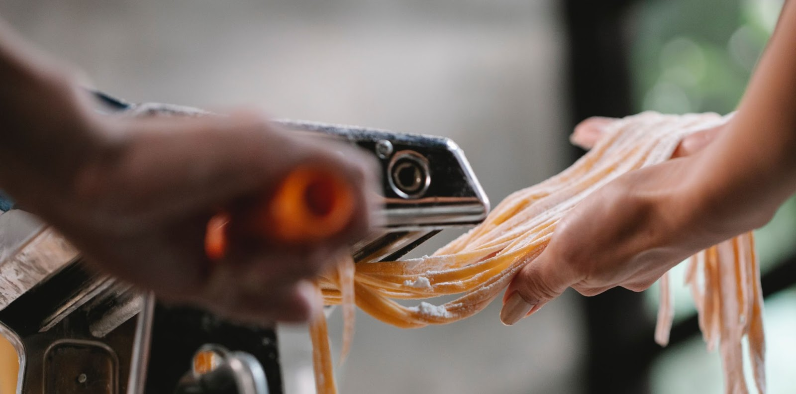 cutting fresh pasta - gluten free pasta - accordingtojo.com