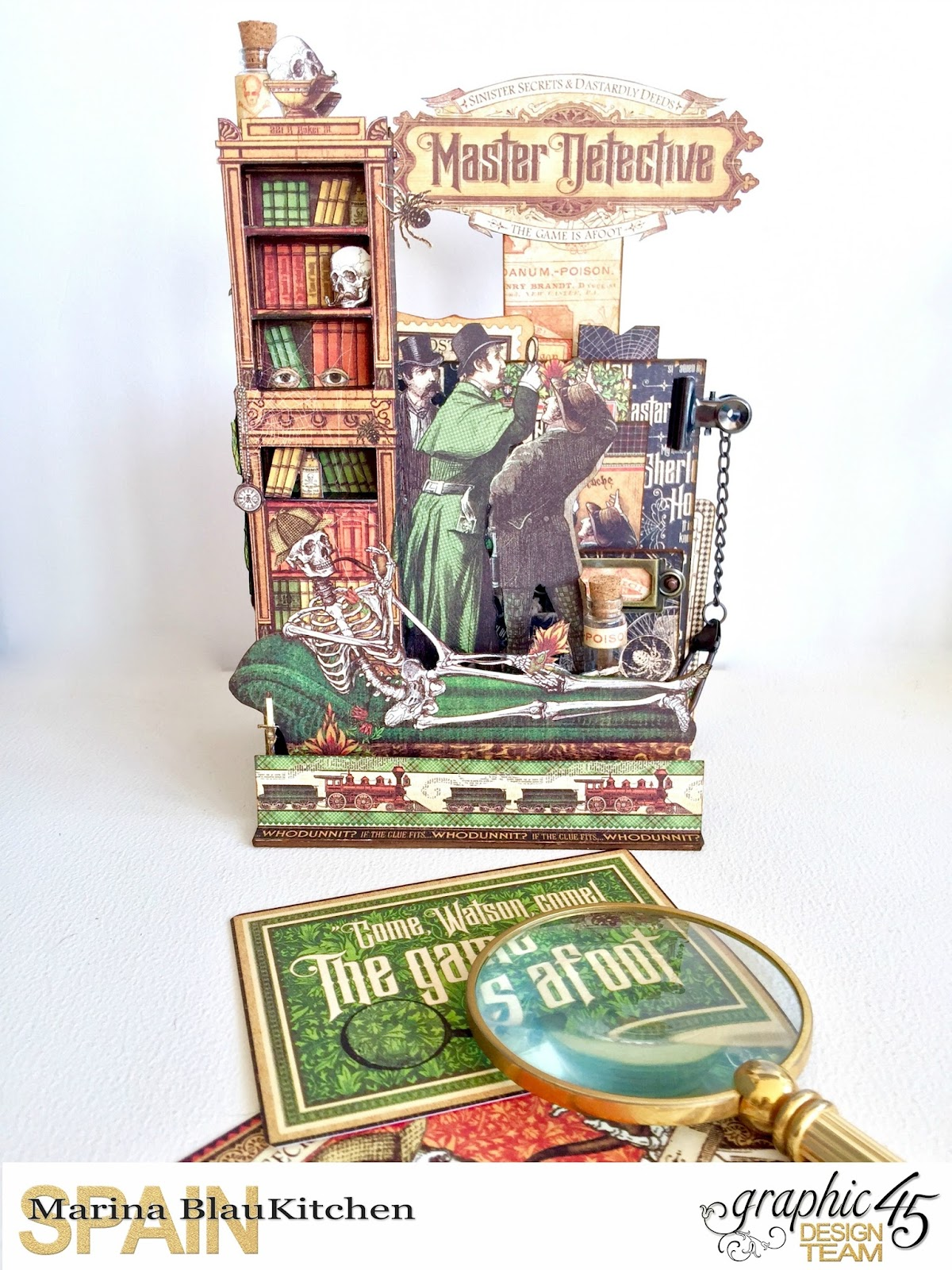 Stand and Mini Album Master Detective by Marina Blaukitchen Product by Graphic 45 photo 1.jpg
